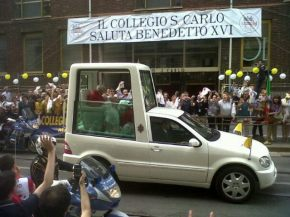 Il saluto a Papa BenedettoXVI