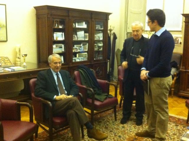 Visita del sindaco di Milano Giuliano Pisapia in Collegio.