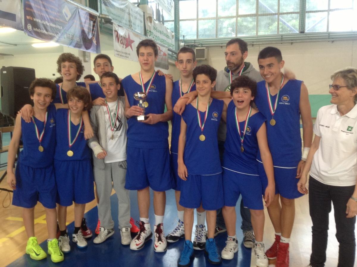 La squadra cadetti del San Carlo è campione regionale di basket